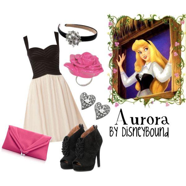Aurora...love this outfit.Sleeping Beauty, Sleep Beautiful, Disney Princesses, Inspiration Outfit, Princesses Aurora, Disney Bound, Disneybound, Briar Rose, Disney Fashion