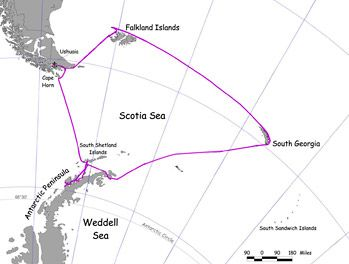 our route through Antarctica