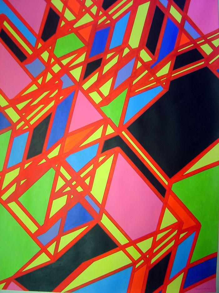 "Title: ""Abdera"". Acrylic on paper. 100 x 70 cm. Signed  Alfonso CIntado 2013. 1250$"