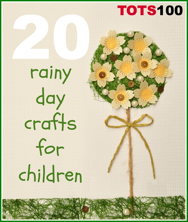 20 fun and easy rainy day crafts for kids.