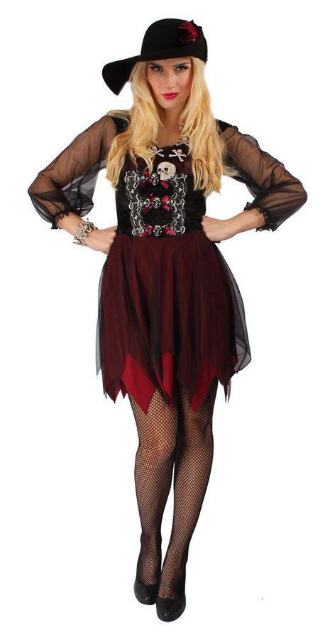 Kostum Piratenbraut Damen Kleid Pirat Mode Fasching Cosplay Karneval