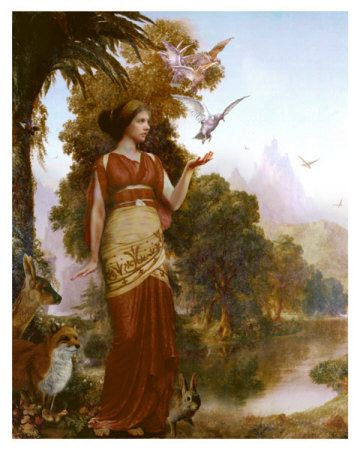 Demeter (Ceres)-goddess of agriculture and a bountiful harvest; made the crops grow; when she mourns for her daughter Persephone, the earth is thrown into winter.