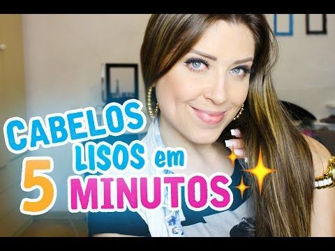 CABELOS LISOS EM 5 MINUTOS - DICAS DA DEDESSA - YouTube