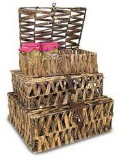 Ficha del artículo con referencia20252A - EMPRESA – BUAR. Cestas, bandejas y baules. Cajas para vino. Muebles de mimbre y madera.