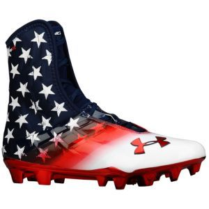 Under Armour Highlight MC - Men's - Football - Shoes - Midnight Navy/White/Red $129.99 **For football next year? @Tre Bussell Morris**