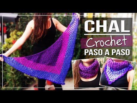 Chal a Crochet Tutorial paso a paso - Tejido a Crochet - YouTube