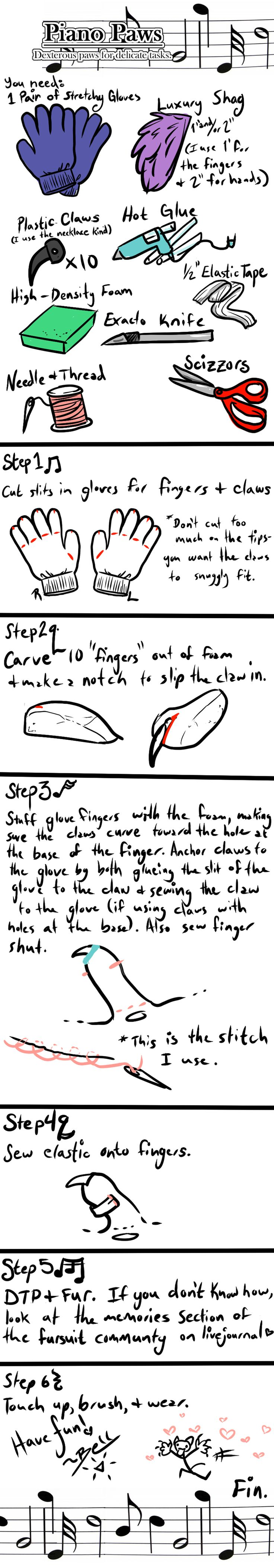 Piano Paws Tutorial by BGArts on DeviantArt