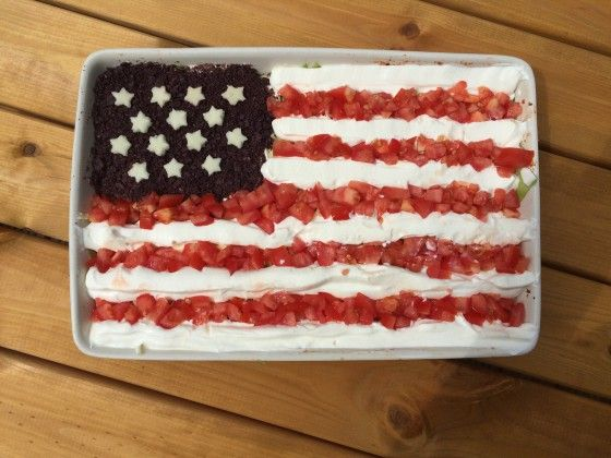 Layered Dip for 4th July