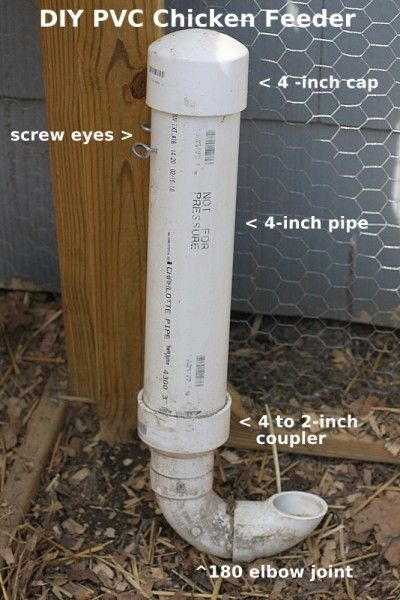 pvc chicken feeder illustration plan