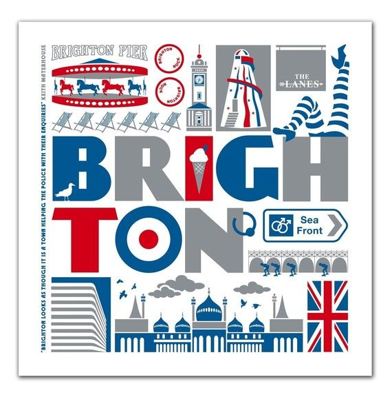 Brighton print by TaylorsType