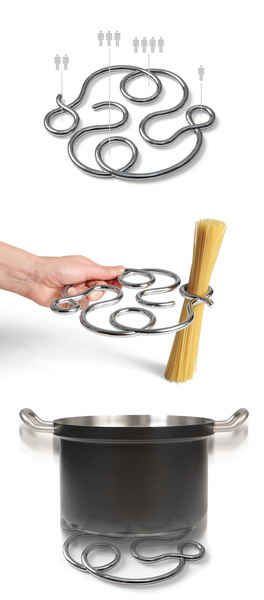 A spaghetti measure and trivet in one