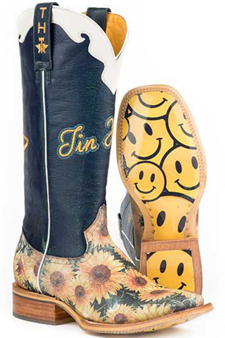 Tin Haul Sunflower Women's Cowgirl Boots - HeadWest Outfitters