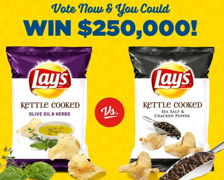 Lays Flavor Swap Sweepstakes - Vote To Win $250K!