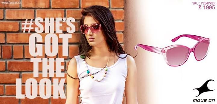 Who says size doesn't matter? #ShesGotTheLook  http://www.fastrack.in/product/p254pk2f   #Fastrack #Pink #Sunglasses #Fashion