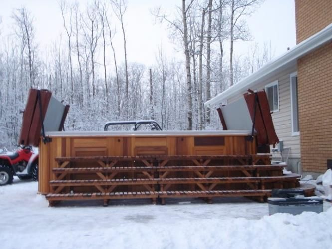 Winter time swimming fun with an Arctic Spas Ocean