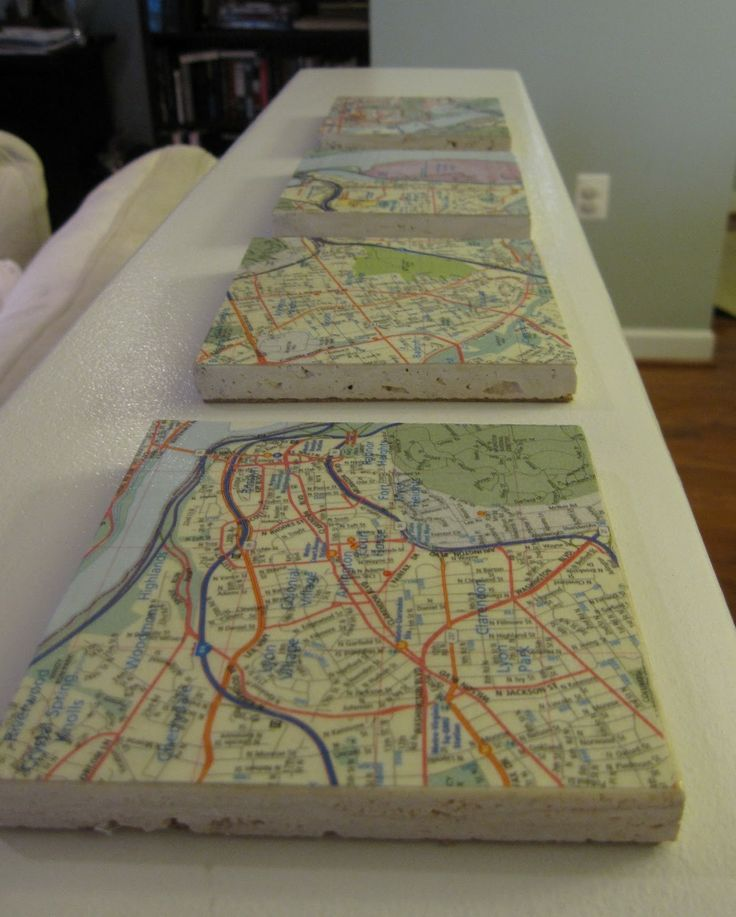 Map Of Poitiers%0A map coasters  printed from Google maps  of places we u    ve visited together