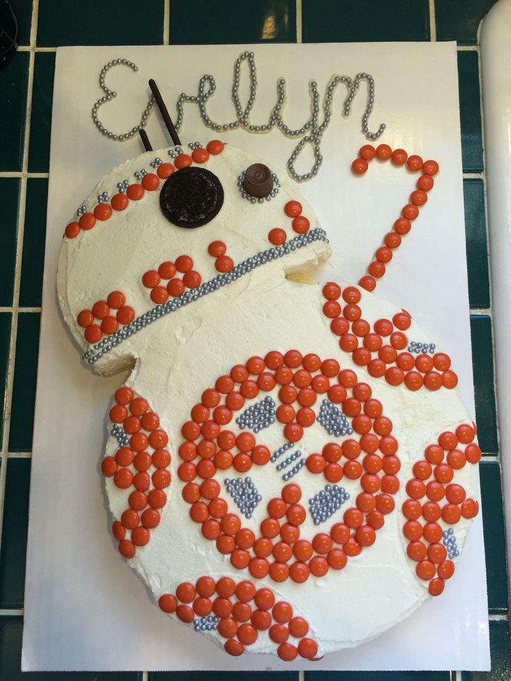 BB8 birthday cake Star Wars cake DIY                                                                                                                                                                                 More