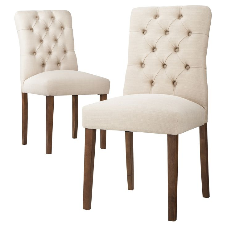 $120 Threshold™ Brookline Tufted Dining Chair - Set of 2 | Target   (already own 4 chairs)