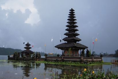 Bedugul / Ulundanu Temple located at Candikuning Village, Baturitti Subdistrict, Tabanan regency in Bali-Indonesia