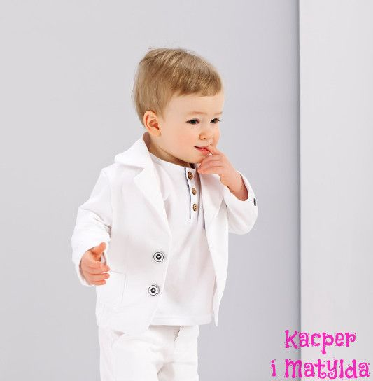 Marynarka chłopięca z bawełny do chrztu Kacper i Matylda mayoral, ubranka do chrztu, garniturki dla dzieci