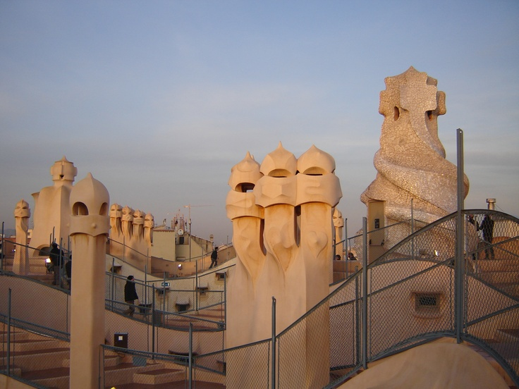 "Roof of the ""La Pedrera"""