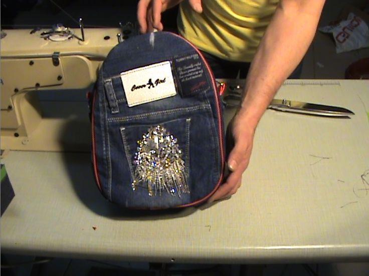 Купить Джинсовый рюкзак для девочек своими руками - джинсовый стиль, джинсовый мир, джинсовая мечта