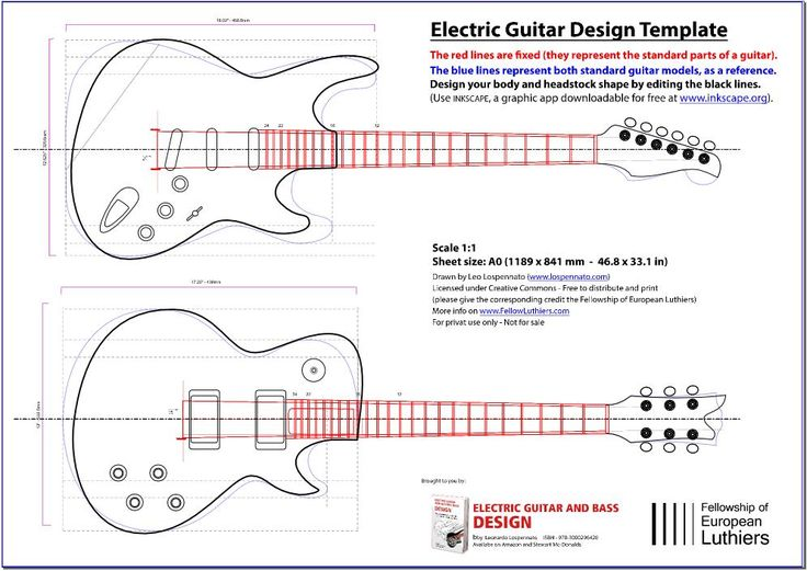 an editable blueprint of a les paul and a stratocaster will serve you as a reference of size and. Black Bedroom Furniture Sets. Home Design Ideas