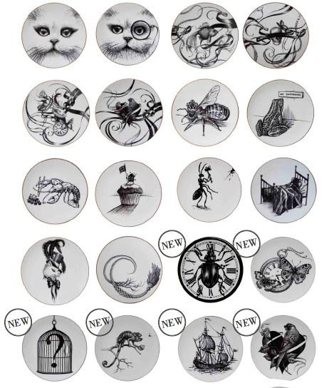 Plates, Plates, Plates! #RoryDobner #ceramics #Homeware #Plates #Blackandwhite #Illustration