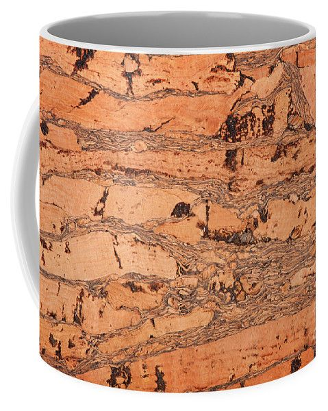 Coffee Mug - Brown cork material texture abstract bright toned, rough surface background. #coffeemug #mug