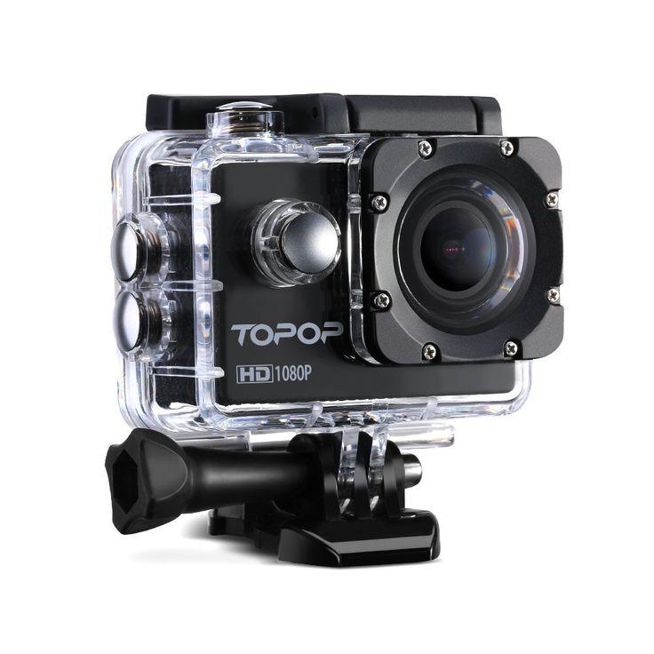 Caméra Sports/Topop Caméra embarquée étanche Haute Définition/Caméra Action Sport avec 12MP image, Full HD 1080p à 30fps Vidéo,30m Etanche,2 pouces LCD Display,170 °Grand-Angle,Accessoires multiples: Amazon.fr: Photo & Caméscopes