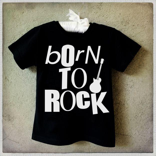 Camiseta infantil Born to be rock Kids T-Shirt Graphic Tee