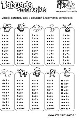 Atividades para fixar a tabuada e auxiliar na multiplicação | Querida Professora
