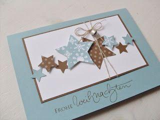 Star card. Carolas Bastelstübchen: Neue Weihnachtskarten
