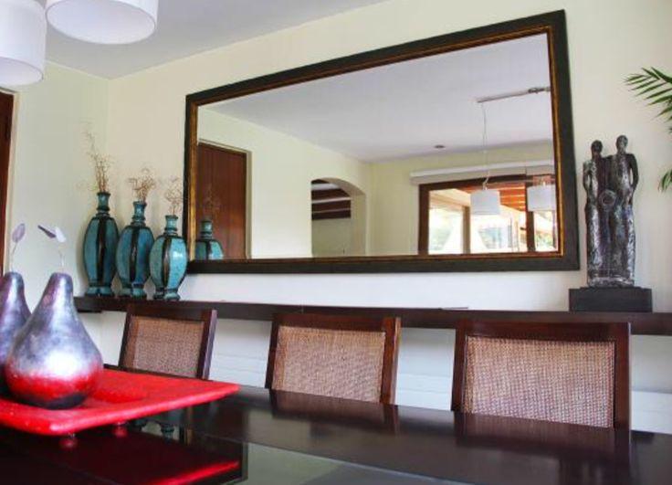 Espejo y repisa comedor espejos comedor pinterest for Espejos rectangulares para comedor