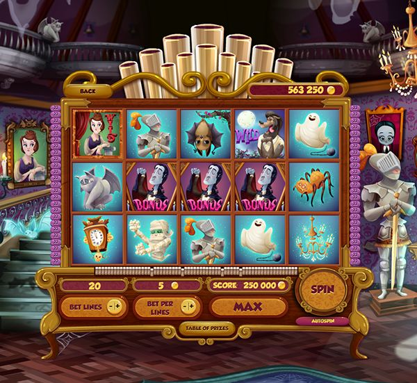 Haunted House Slot on Behance