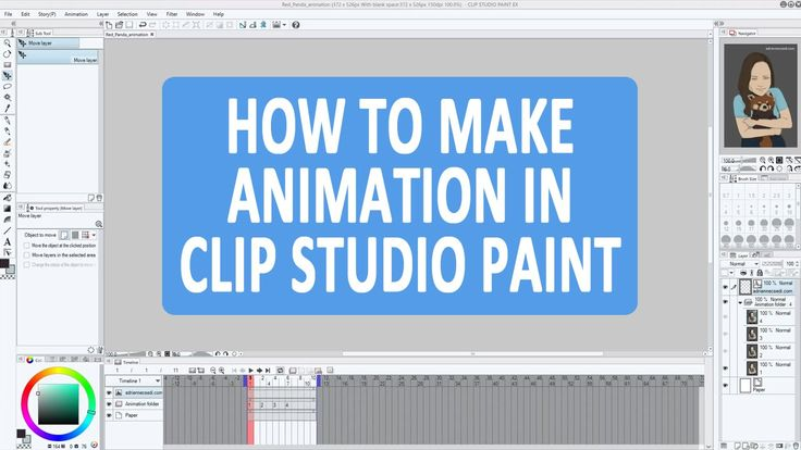 This video shows how to make a simple animation in the upgraded Clip Studio Paint EX (formerly Manga Studio 5).  I show you through an example how you can create your own animation that you can export as an animated gif or an avi file later.