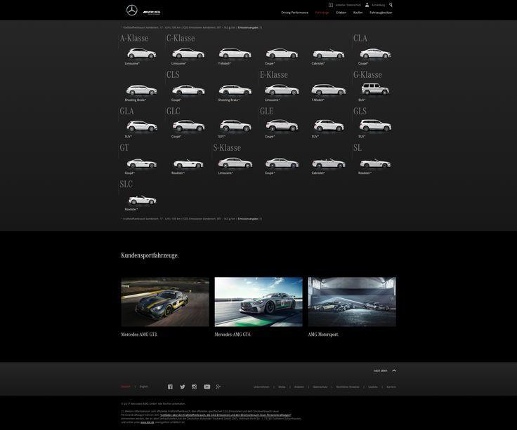 BOLD. Digital GmbH: UX- und Web Design für Mercedes AMG Brand Website.