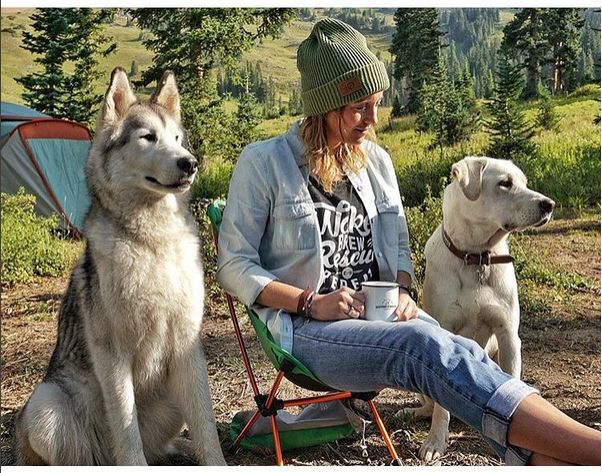 We can't think of a better way to spend a day! Wake. Brew. Rescue. Repeat. @loki_the_wolfdog @boone_and_moon www.groundsandhoundscoffee.com