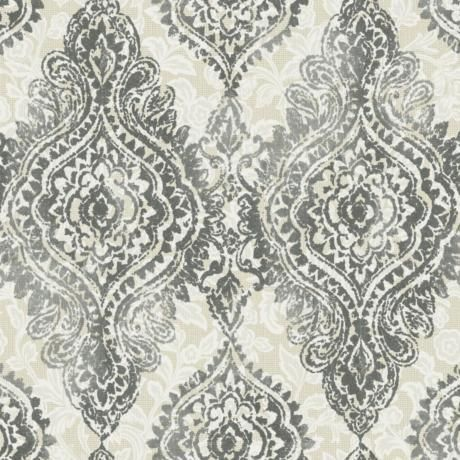 York Sure Strip Gray Boho Chic Removable Wallpaper J.F
