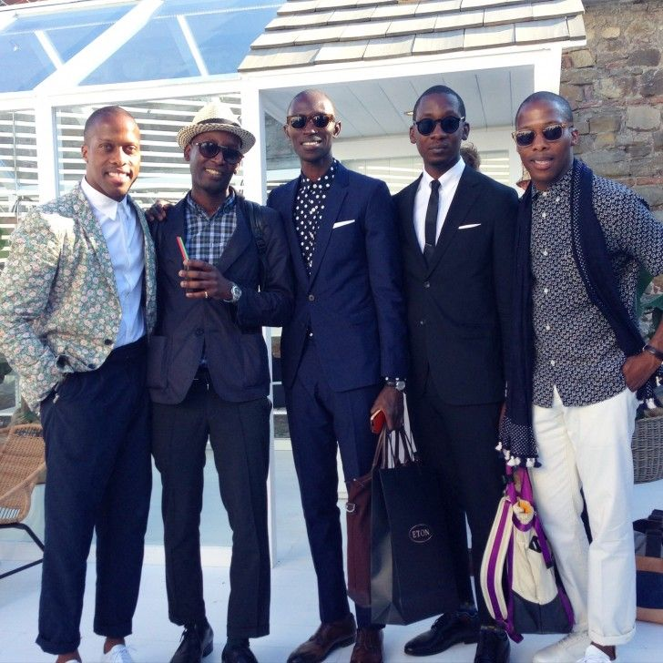 Byron & Dexter Peart of Want Les Essentials de la Vie (plus some seriously dapper supporters & friends) at  Pitti Uomo - The Coveteur
