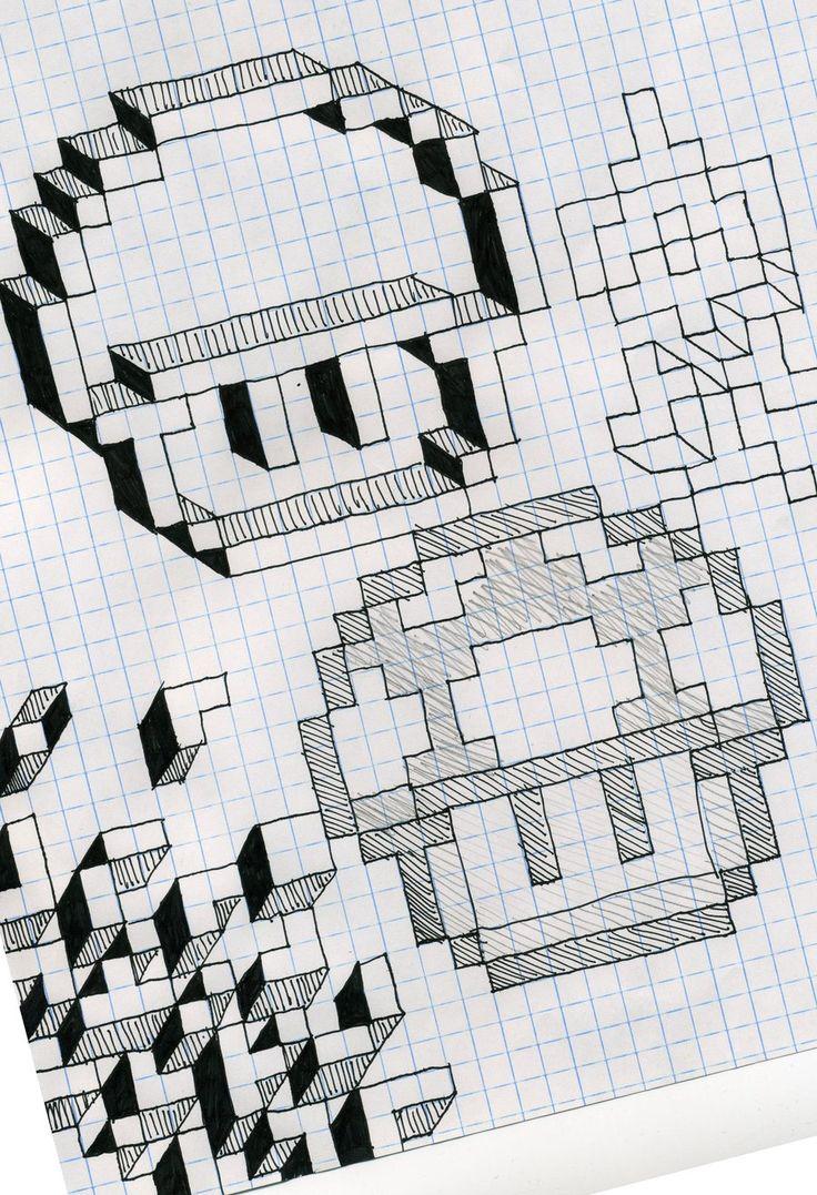 Best 25+ Graph paper art ideas on Pinterest   Fuse bead patterns ...