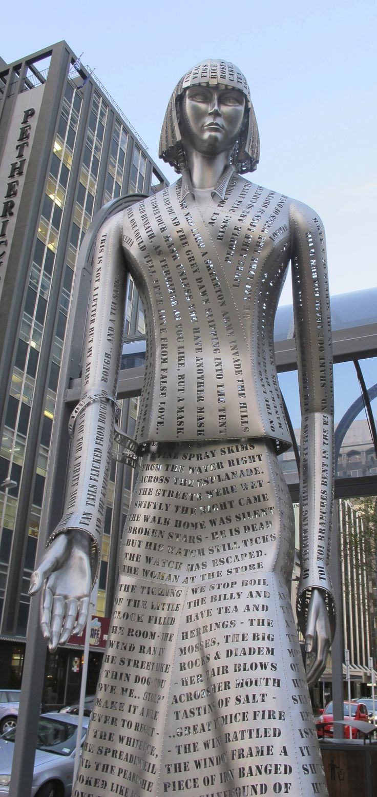 Katherine Mansfield sculpture - Wellington, New Zealand