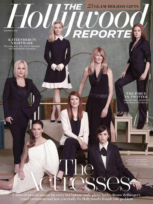 Reese Witherspoon, Julianne Moore, Amy Adams, Patricia Arquette, Laura Dern, Felicity Jones and Hilary Swank for The Hollywood Reporter
