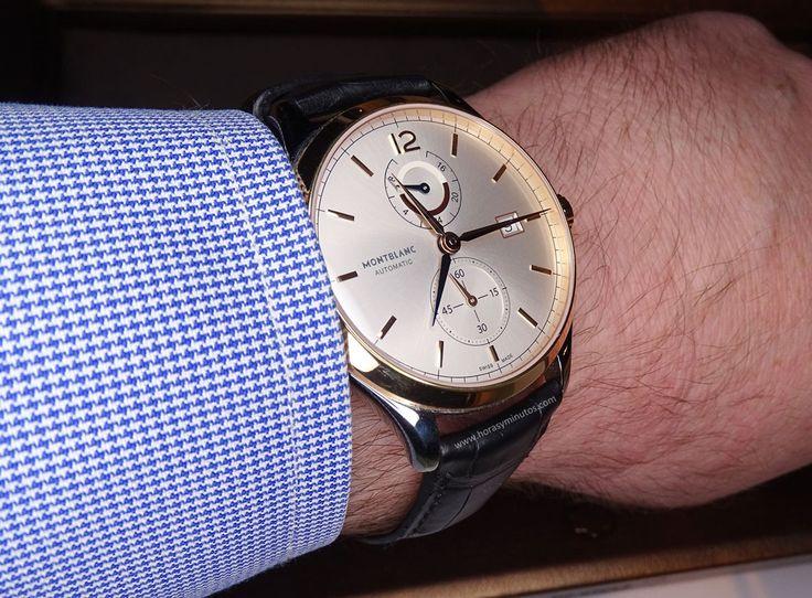 Montblanc Chronometrie Dual Time oro - en la muñeca perfil