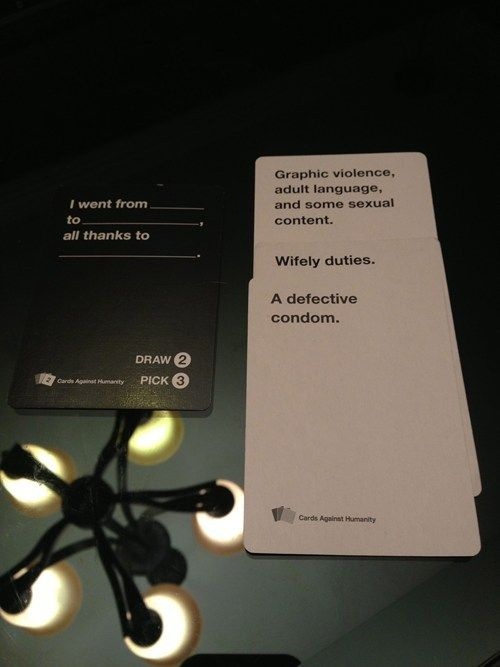 Cards Against Humanity Win Awesome game, must have for next camping trip!