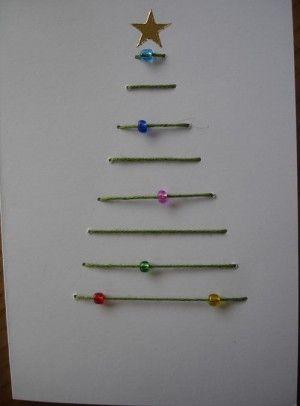 yarn jewel Christmas tree