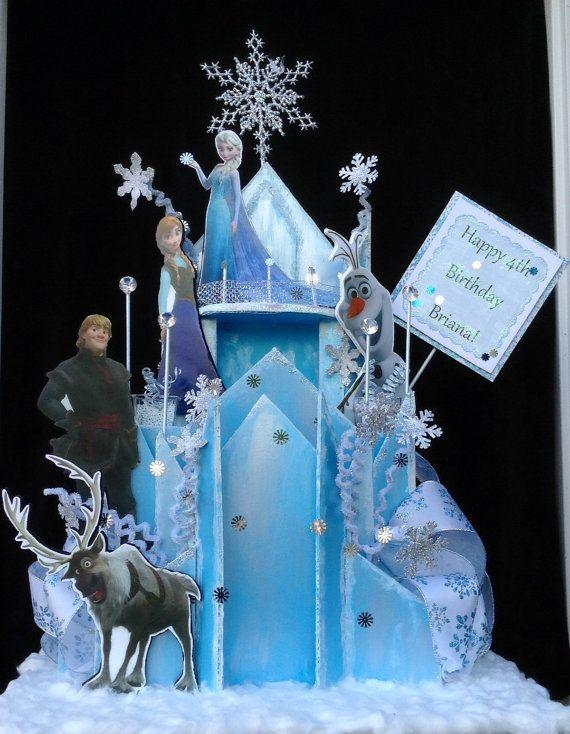 Frozen Centerpiece  Frozen Castle Centerpiece by BasketsFromAtoZ, $100.00