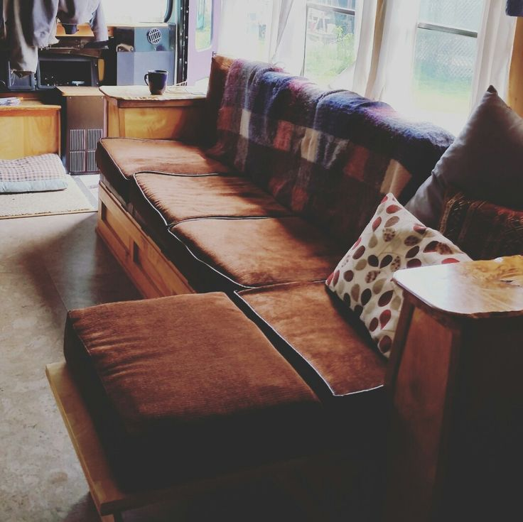 Skoolie Couch The Hunky Dory Bus Pinterest Couch