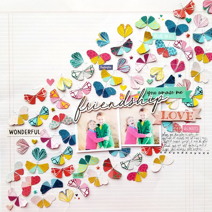 This layout called Friendship was actually the very very first page I made using  Pick-Me-Up  and it was for the Scrapbook & Cards Today Ma...