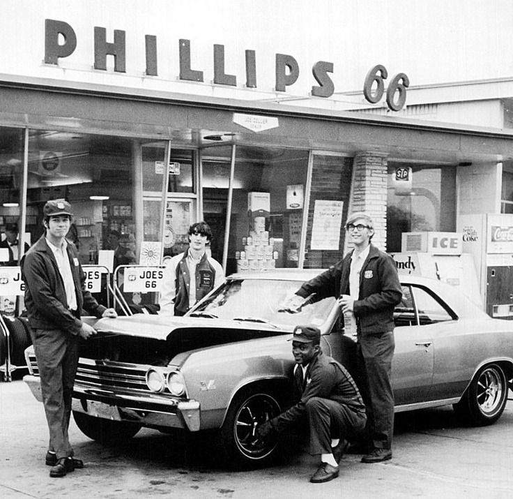 """""""Full service Phillips 66 gas station. """""""